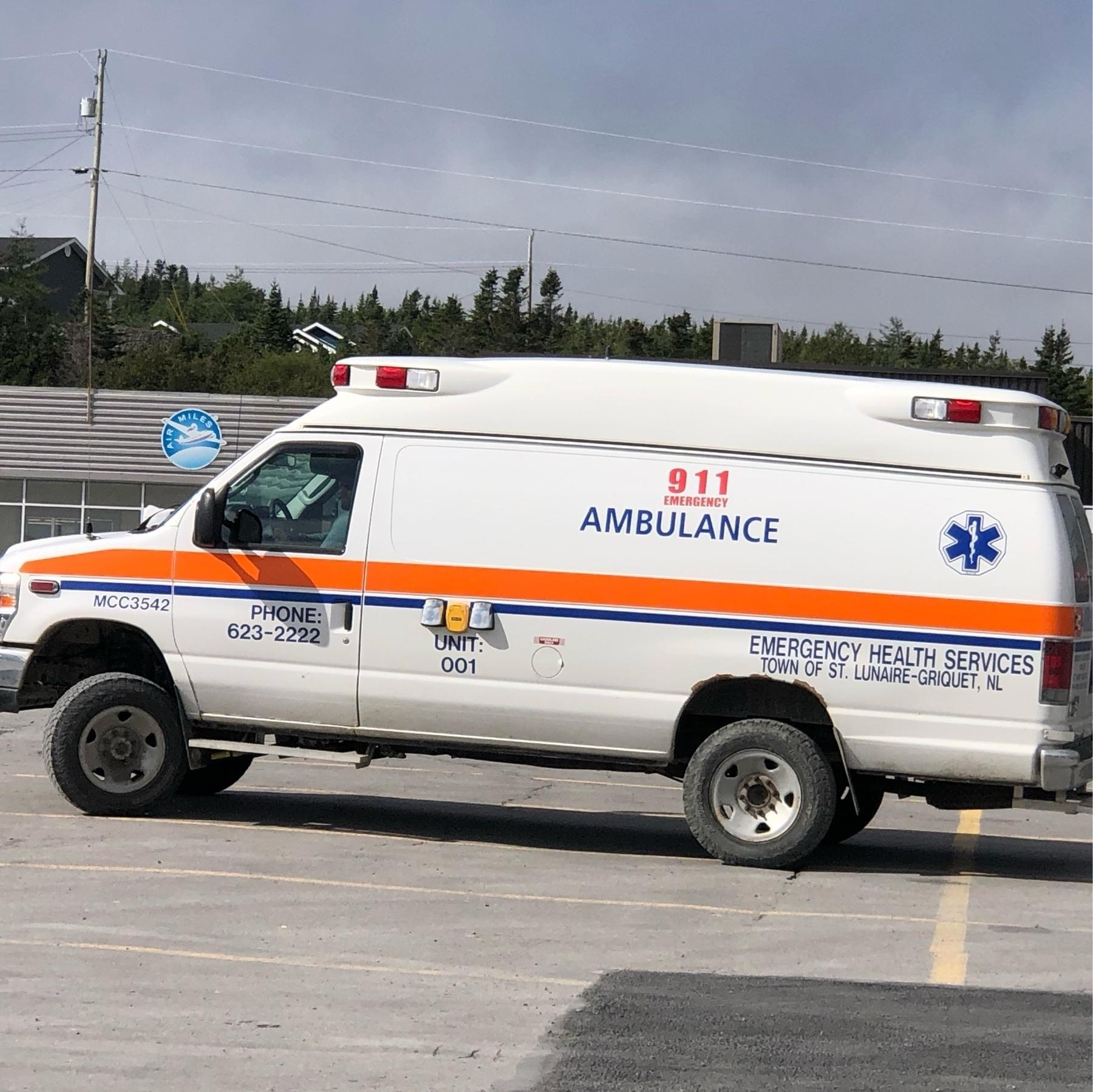 heavy duty van converted into ambulance for town of st. lunaire-griquet nl